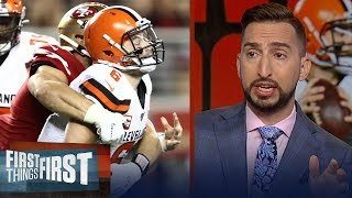 'Baker Mayfield was awful again' in Browns Week 5 loss to 49ers — Nick | NFL | FIRST THINGS FIRST
