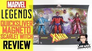 Marvel Legends X Men Magneto Quicksliver Scarlet Witch (Family Matters) 3 Pack Action Figure Review