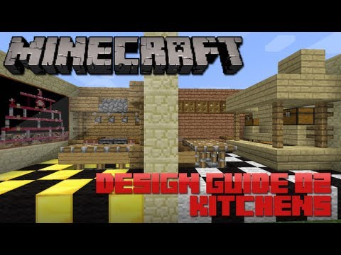 Minecraft Design Guide: 2 - Kitchens (Architecture Tips & Tricks)