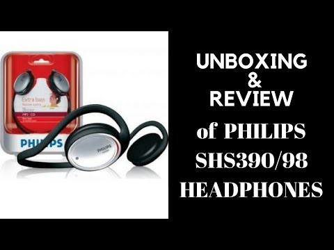 Unboxing & Review of Philips SHS 390/98 Headphone Neckband. [HINDI]