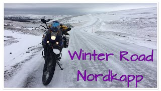 Nordkapp winter road