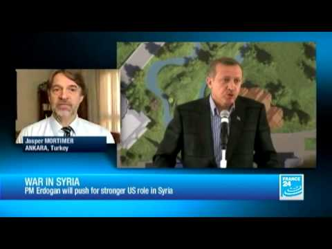 War in Syria: PM Erdogan will push for stronger US role in Syria
