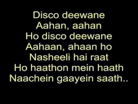 Disco Deewane  Student Of the Year  Lyrics