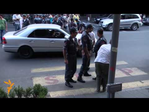 Armenian Activists Face Off With Police In Yerevan