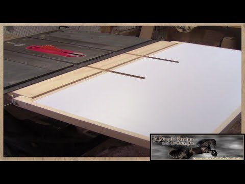 Make a Table Saw Out Feed Table Part 3