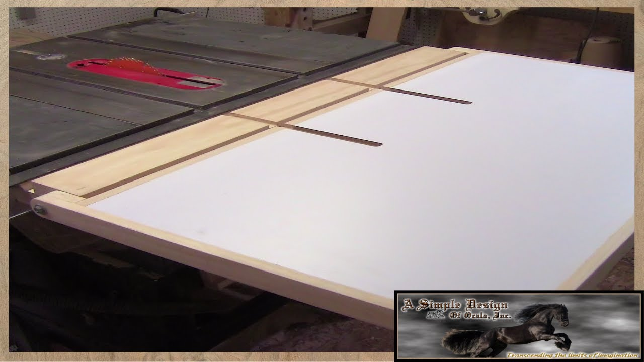 Make A Table Saw Out Feed Part 3 YouTube