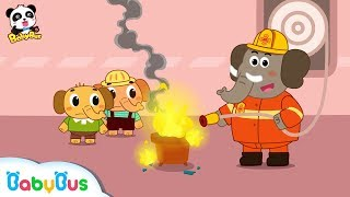 Learn Fire Safety with Elephant Firefighter | Fire Drill | Kids Role Play | BabyBus
