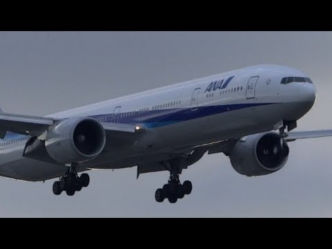 All Nippon Airways ANA Boeing 777-300ER Landing KORD / ORD O'Hare Airport from RJAA / NRT