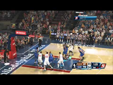NBA 2K14 ONLINE QUICK MATCH KNICKS VS 76ERS