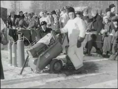 GRAND PRIX PÅ ROMMEHED 1947 ! ( GRAND PRIX MOTOR RACING SWEDEN WINTER 1947 )