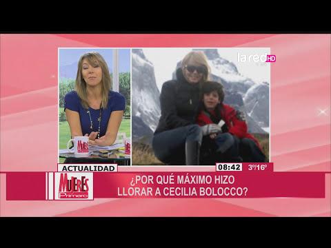 Cecilia Bolocco lloró por dichos de Máximo