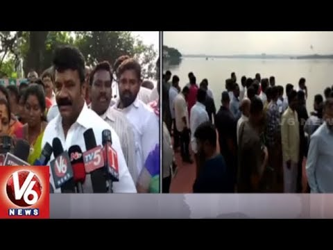 Minister Talasani Srinivas Yadav Inspects Arrangements For Saddula Bathukamma | Hyderabad | V6 News