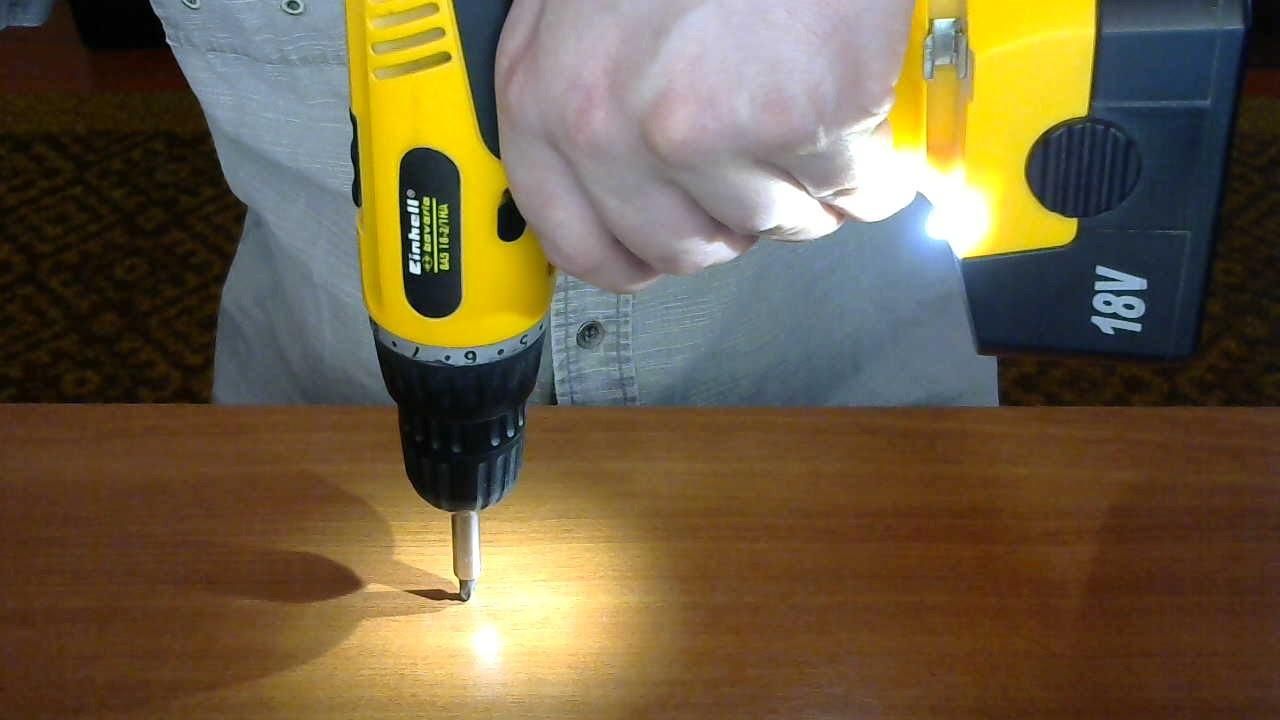 Как сделать подсветку в шуруповерт