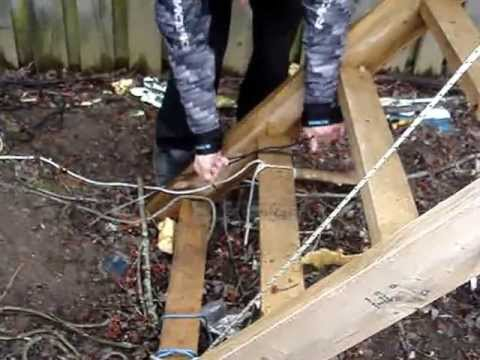 How to install a Ham Radio Antenna using a Potato Canon - Redneck Canadian Style! # 3