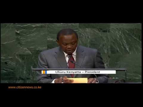 President Uhuru's Maiden Speech at UNGA