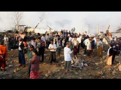 17قتيلا في انفجار ضخم بمدينة رانغون في ميانمار
