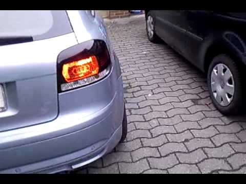 Audi A3 8P New Rückleuchten...Audi Logo Video