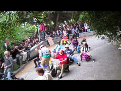 BYOBW 2012: Highlights of the 2012 Bring Your Own Big Wheel event in San Francisco on Vermont Street