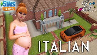 The Sims FreePlay 🇮🇹| ITALIAN HOME |🏠  PREGNANCY UPDATE.