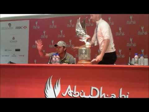 Pablo Larrazabal Full Press Conference after winning the 2014 Abu Dhabi HSBC Golf Championship