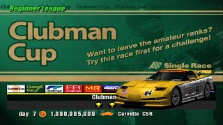 Gran Turismo 3 - Clubman Cup but using a Corvette C5R