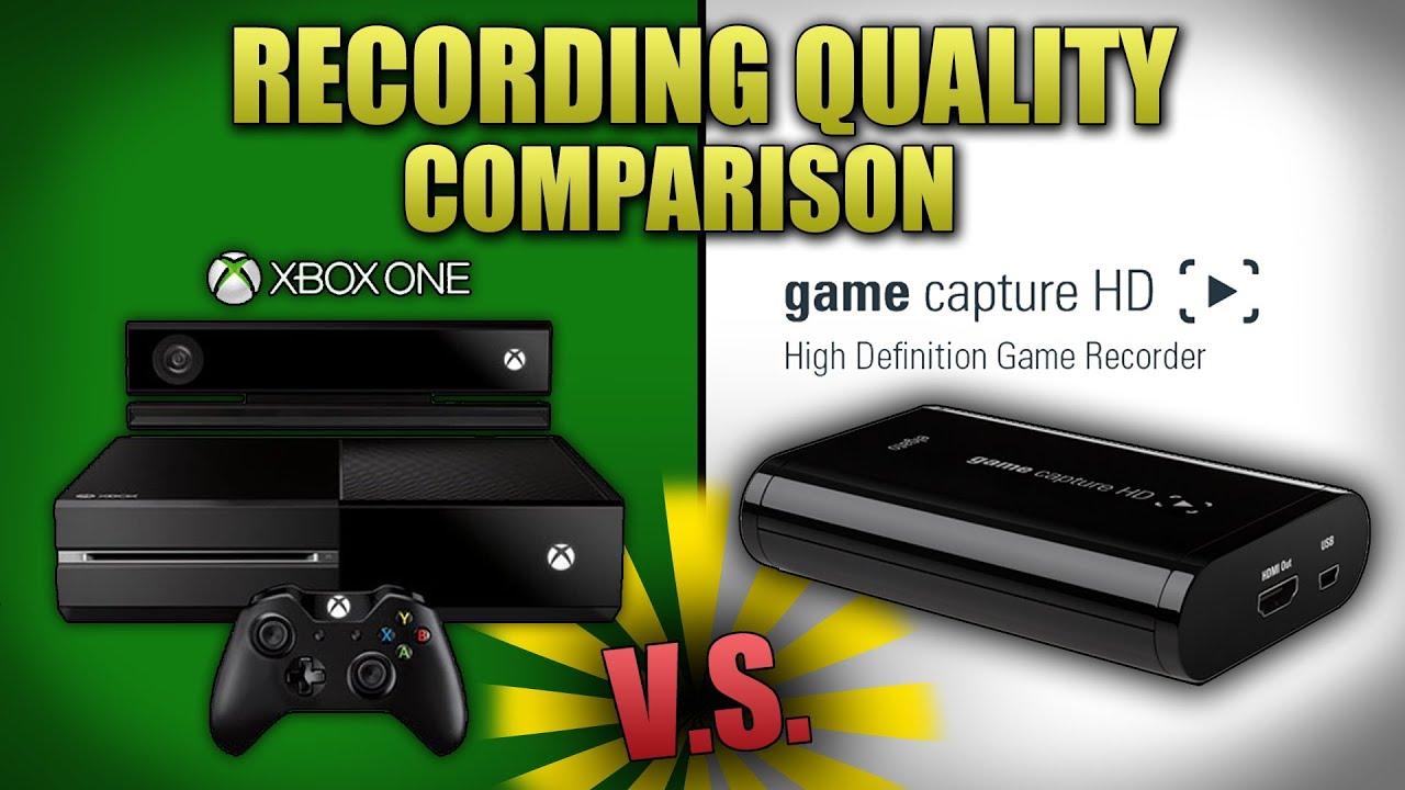 Recording Xbox One Quality Comparison Elgato Capture