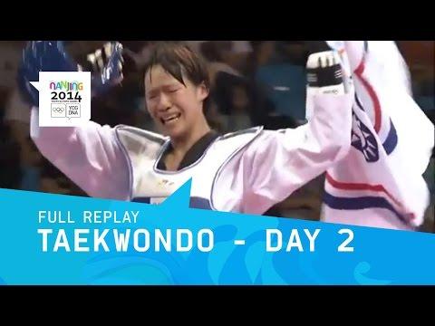 Taekwondo - Chinese Taipei Double Gold  | Full Replay | Nanjing 2014 Youth Olympic Games