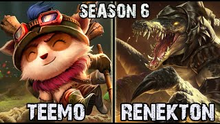 Best Teemo Korea vs Renekton TOP Ranked Challenger