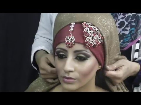 Asian Bridal Makeup Hijab Tutorial By Farzana Ahmed - YouTube