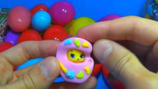 oua kinder 30 Surprise Eggs!!! Disney CARS MARVEL Spider Man SpongeBob HELLO KITTY PARTY ANIMALS Lit