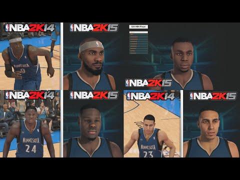 NBA 2K15 Graphics Comparison, Minnesota Timberwolves Roster! NBA 2K15 vs NBA 2K14