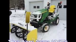 Snowblowing made easy with John Deere 1025r 54