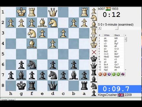 Chess World.net: LIVE Blitz #1397 vs b007 (1933) - King's Indian: East Indian defense (A48)