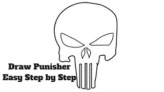 How to Draw Punisher Easy Step by Step