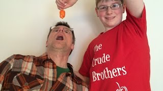 Spice Newbie eats Habanero : Inflict Fun Upon A Friend #1, Crude Brothers