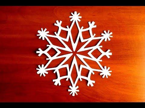 красивые и легкие снежинки из бумаги своими руками схема поэтапно