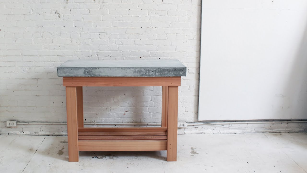 How To Make A Diy Outdoor Kitchen Island With A Concrete