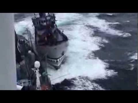 lCR- Bob Barker and Yushin Maru 3 collision 14.02.02