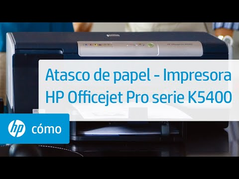 Atasco de papel - Impresora HP Officejet Pro serie K5400