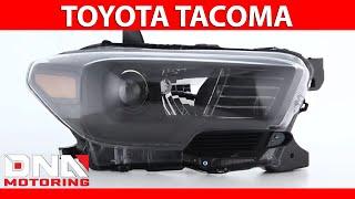 DNA Motoring 16-18 Toyota Tacoma Black Housing Amber Headlights
