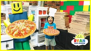 ROBLOX Work at a Pizza Place In real life Pretend Play food