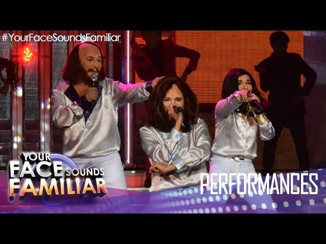 Your Face Sounds Familiar: Eric Nicolas, Kakai Bautista & Myrtle Sarrosa as Bee Gees