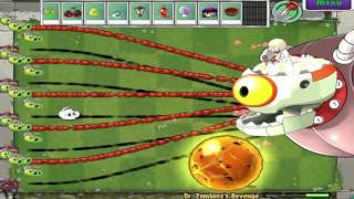 PLANTS VS ZOMBIES 100% CATTAIL VS DR. ZOMBOSS`S MOD PLANTS VS ZOMBIES 2