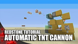 Minecraft: Simple Automatic TNT Cannon!