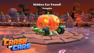 HIDDEN PUMPKIN CAR FOUND ON HOLLOWS MAP 🎃 Crash of Cars #93