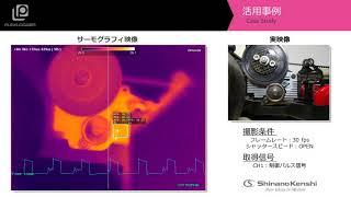 サーモグラフィ+データロガー 「ヒートシンクの放熱評価」