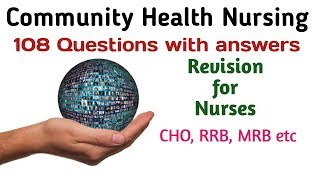 Community Health Nursing || Community Health Officer MCQs || Community Health || CHO