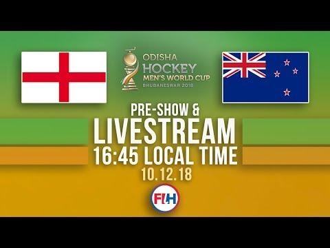 England v New Zealand | 2018 Men's Hockey World Cup | FULL MATCH LIVESTREAM