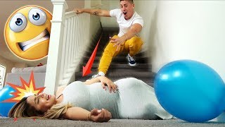 I FELL DOWN THE STAIRS PRANK ON BOYFRIEND!!! ( GOT HIM BACK! )