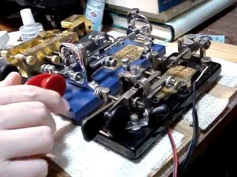 Vibroplex bug key 1922 Blue racer & Blue racer 2000